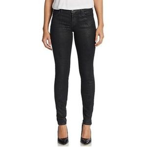 Current/Elliott Ankle Skinny, Black Coated Jeans